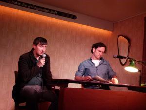 Literaturklub Köln: Christoph Danne und Adrian Kasnitz. © Foto: Sascha Klein