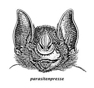 Logo parasitenpresse Fledermaus